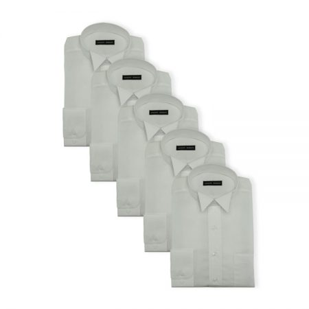 5Pack - Mens easy care court shirts